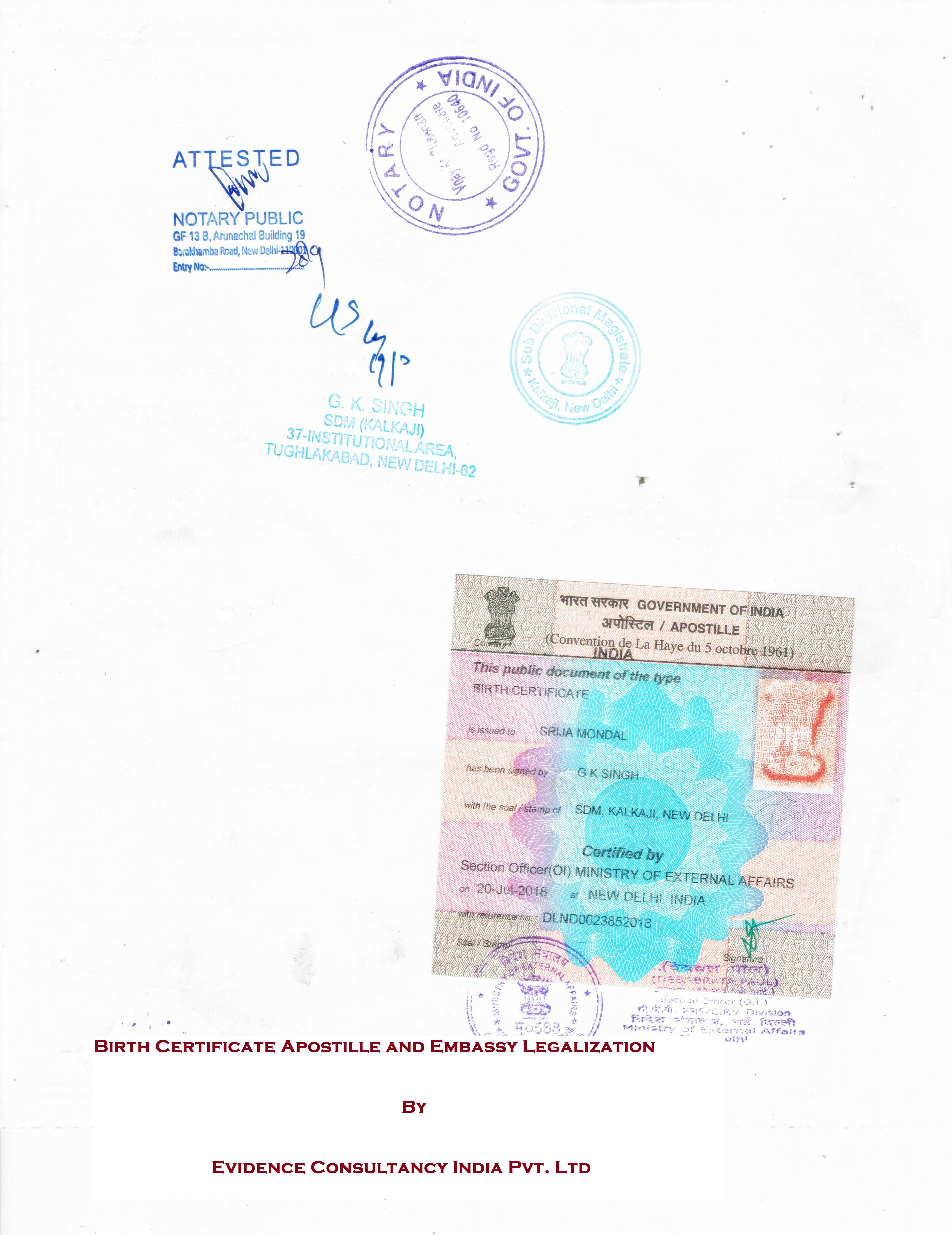 Birth Certificate Apostille Servicesbirth Certificate Embassy