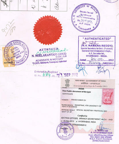 Process of Embassy Attestation of personal Documents