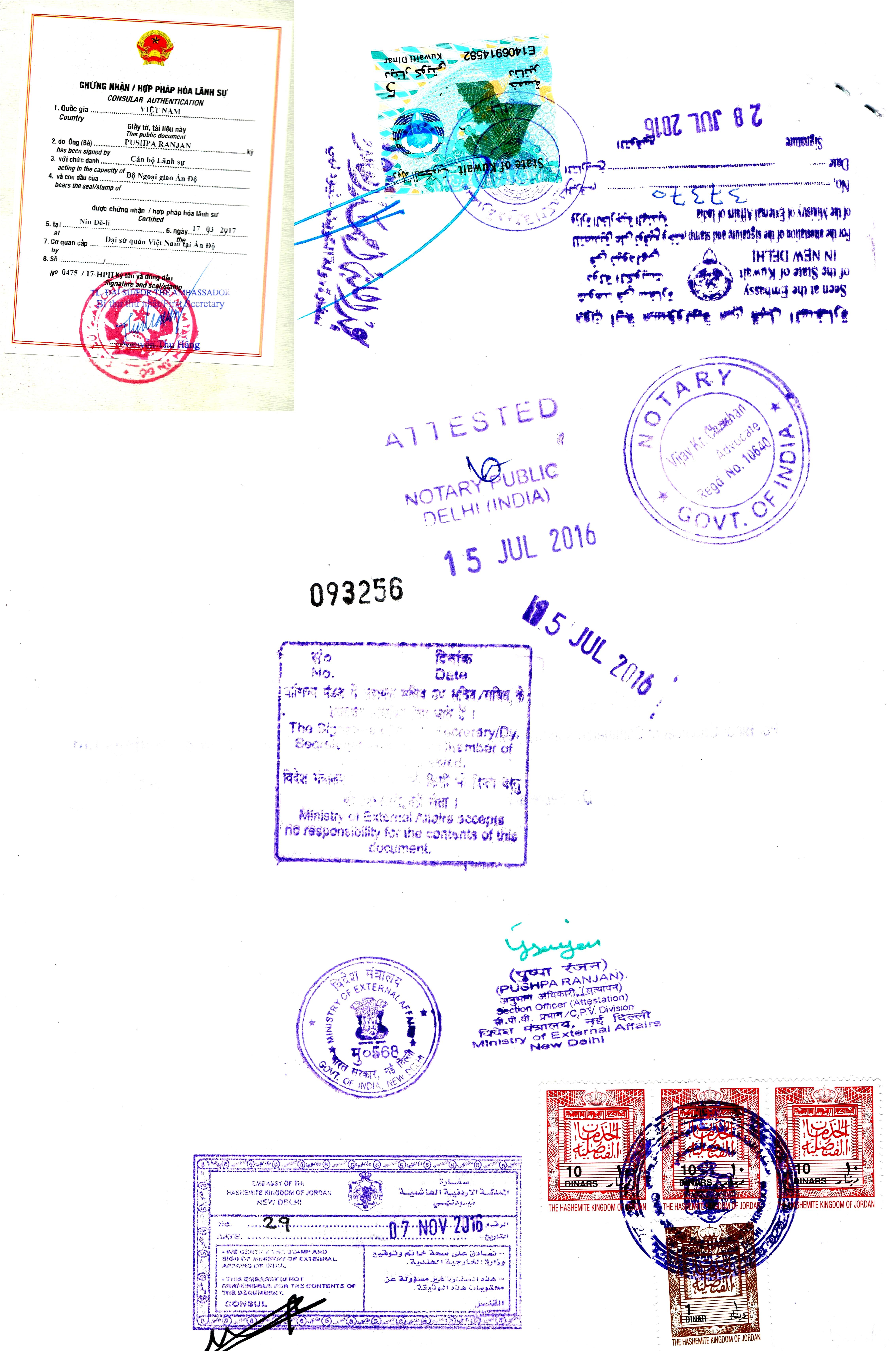 Document Attestation from Qatar Embassy | Qatar Embassy Legalization