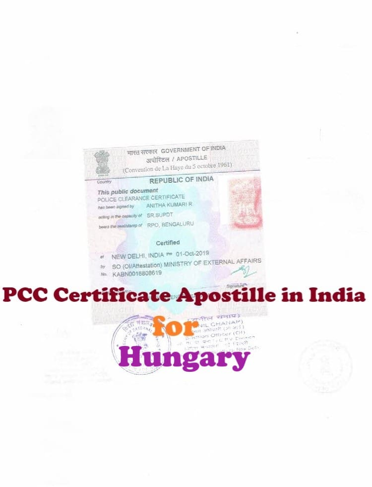 PCC Certificate Apostille for Hungary
