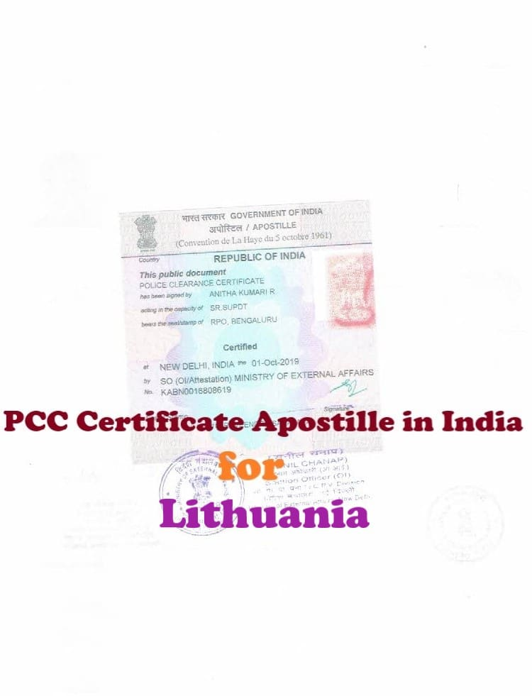 PCC Certificate Apostille for Lithuania