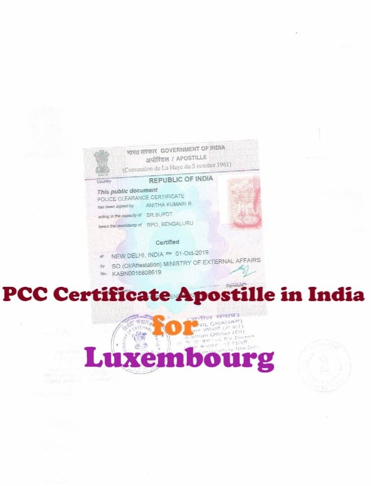 PCC Certificate Apostille for Luxembourg