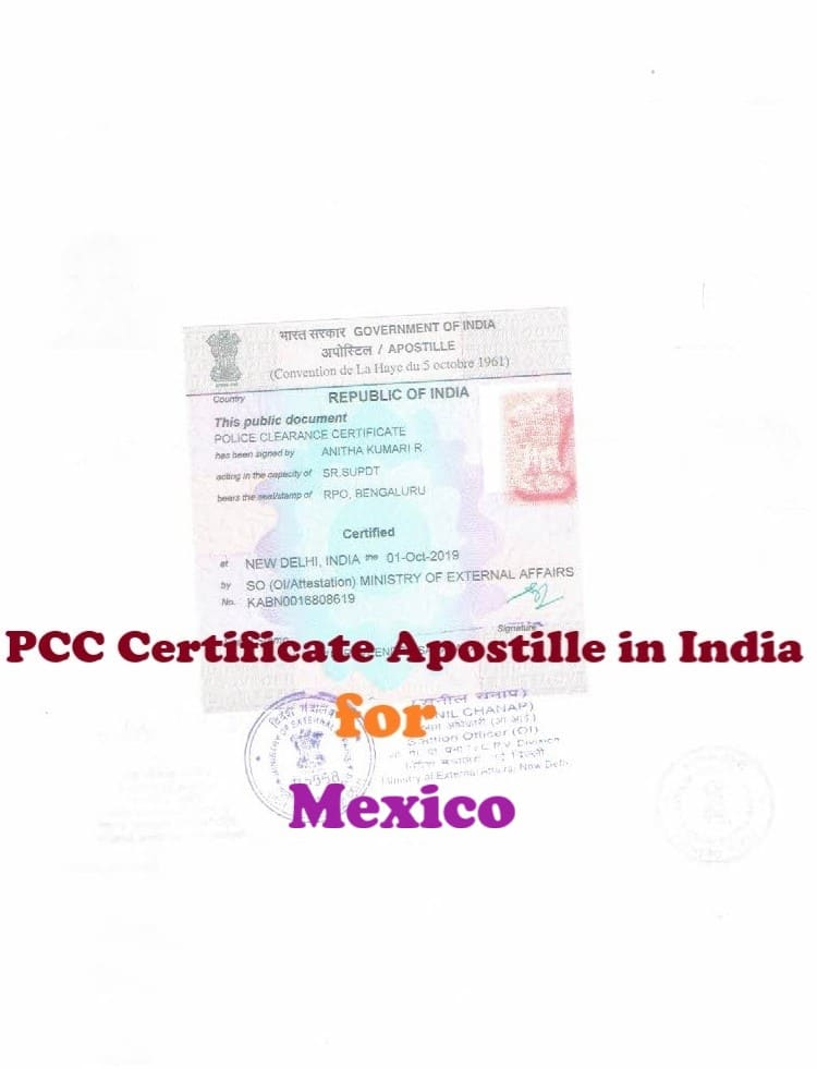 PCC Certificate Apostille for Mexico